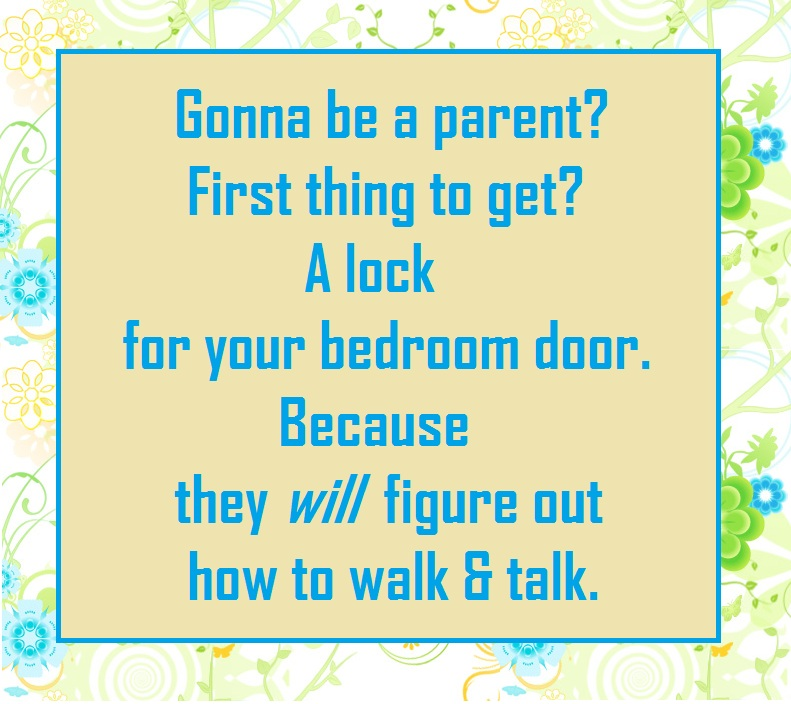 Humor Funny  Parenting Sleep-deprived Doorlock Moms Dads Kids Family Life