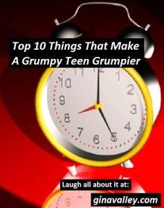 Humor Funny Humorous Family Life Love Laugh Laughter Parenting Mom Moms Dad Dads Parenting Child Kid Kids Children Son Sons Daughter Daughters Brother Brothers Sister Sisters Grandparent Grandma Grandpa Grandparents Grandfather Grandmother Parenting Gina Valley Top 10 Things That Make A Grumpy Teen Grumpier Teenagers